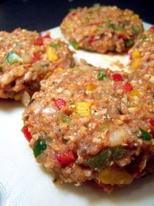 Southwestern Turkey Burgers raw patties