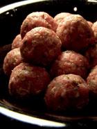 Mini Turkey Balls & Broccoli over Speghetti Squash - the meatballs