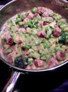 Mini Turkey Balls & Broccoli over Speghetti Squash - with broccoli
