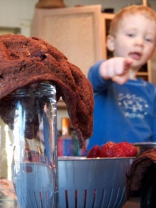 Raspberry Chocolate Waffle Cups – VitaMix Contest Finalist 1 - Ryan Pointing