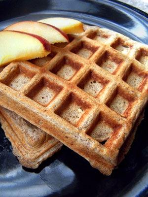 100% whole grain waffles