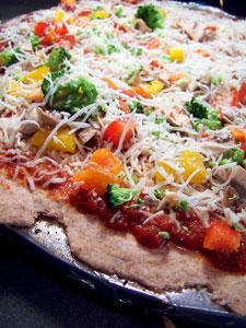 Whole Wheat Pizza Dough - whole pie 1
