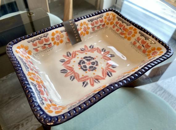 Aphorism Purple & White Baking Dish 20 x 15 cm | Etsy