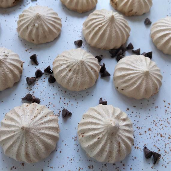 Mocha Chip Meringue Cookies one dozen 12 Gluten Free | Etsy
