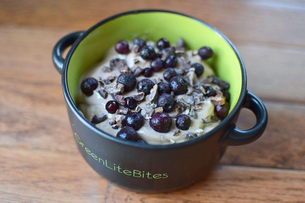 Chocolate Blueberry Protein Yogurt