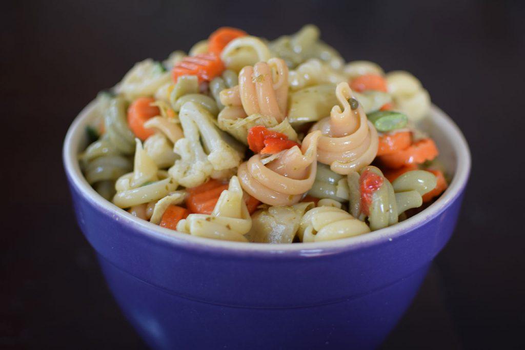 Pesto Pasta Dump Salad