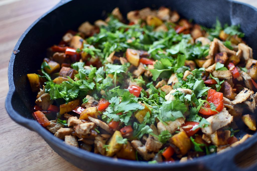 Plantain Hash with Leftover Turkey