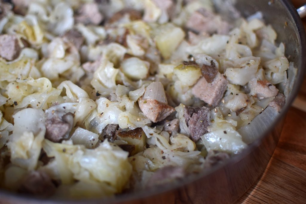 Cabbage, Ham and Potatoes