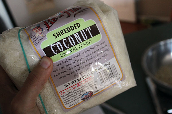 bag of coconut