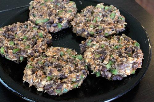 Turkey and Black Bean Burgers - The Patties