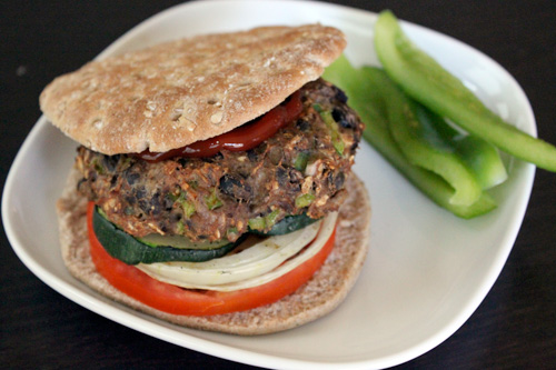 Turkey and Black Bean Burgers - The Finished Plate