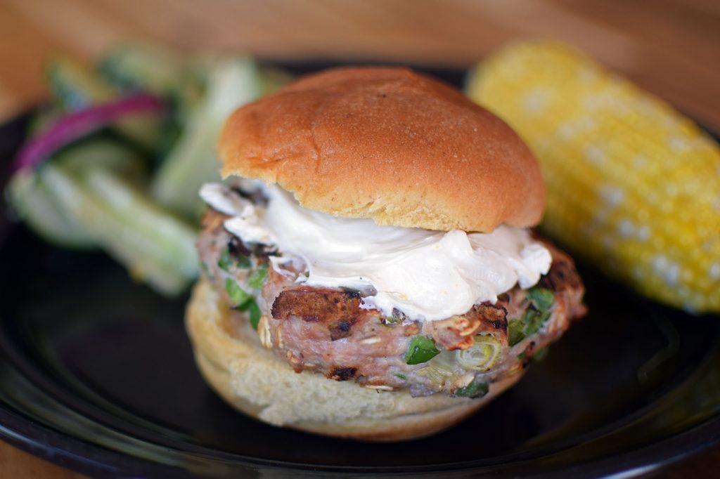 Jalapeño Popper Inspired Turkey Burgers