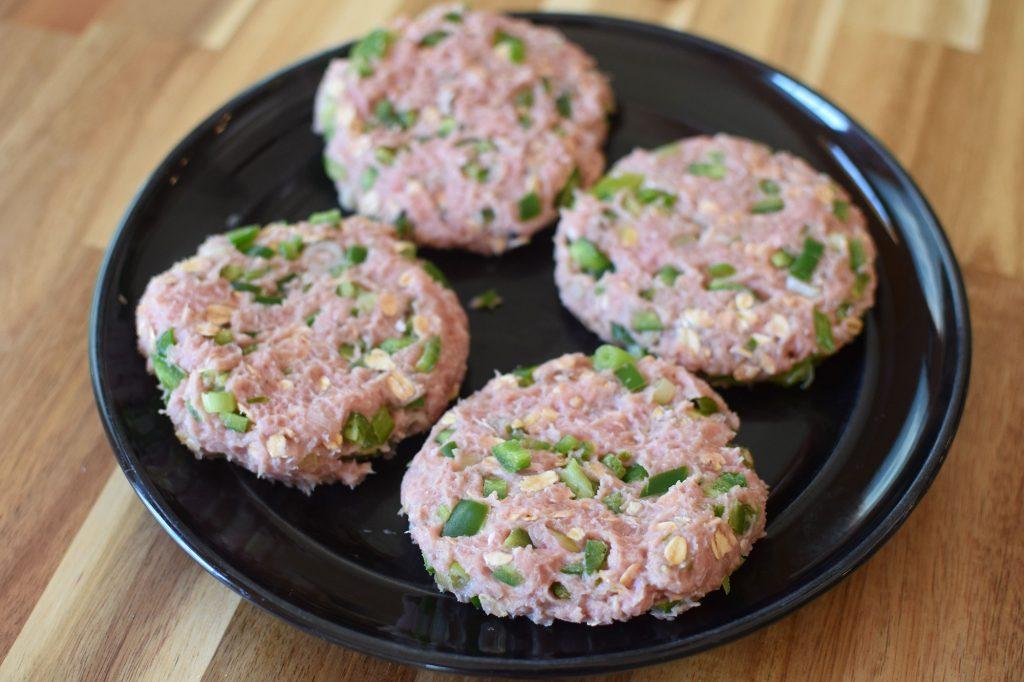 Jalapeño Popper Inspired Turkey Burgers - patties