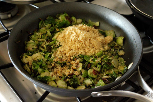 Warm Brussels Sprout and Couscous Salad - step 7