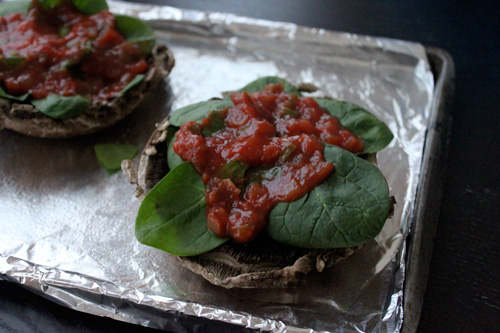 Mexican Style Portobello Mushroom Pizza - step 2