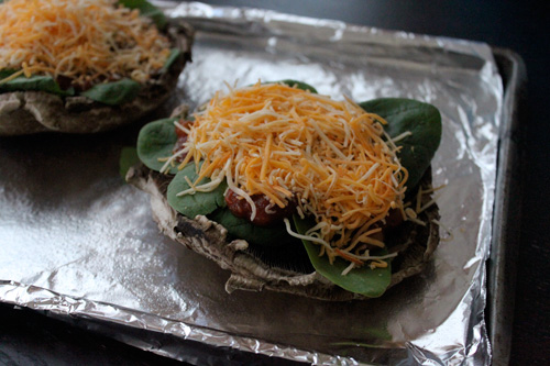 Mexican Style Portobello Mushroom Pizza - step 3