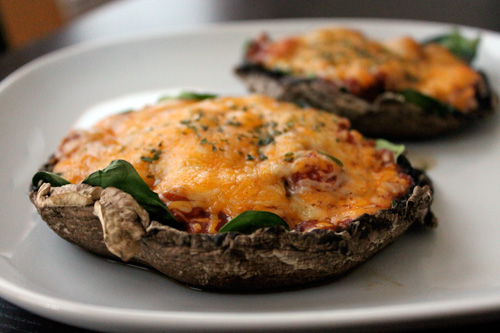 Finished Mexican Style Portobello Mushroom Pizza