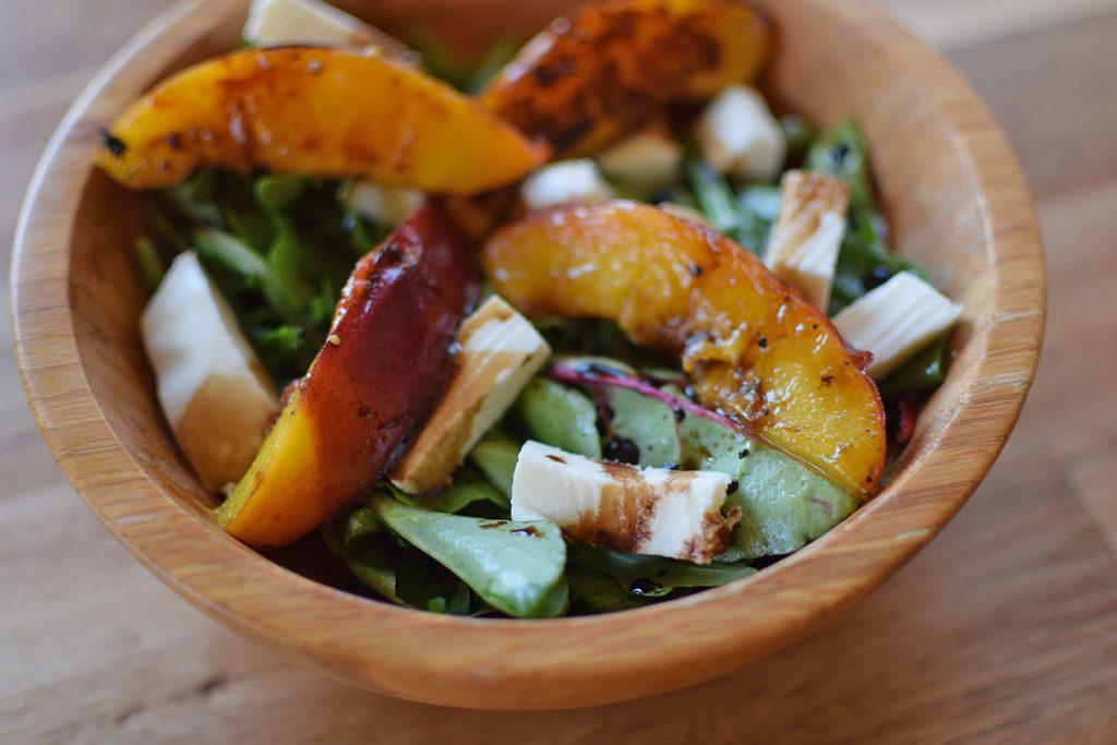 Grilled Peach and Buffalo Mozzarella Salad